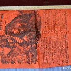 Tauromaquia: CARTEL DE TOROS SEDA - PLAZA DE TOROS MÁLAGA - FERIA DEL 3 A 10 DE AGOSTO 1969 - MUY BUEN ESTADO. Lote 97188751
