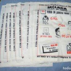 Tauromaquia: COLECCIÓN 10 CARTELES / PAÑUELOS TOROS TELA - PLAZA TOROS MÁLAGA - FERIA AGOSTO 1990 DEL 11 A 20. Lote 97191675