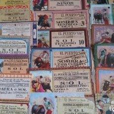 Tauromaquia: 19 ENTRADAS DE TOROS DEL PUERTO DEL AÑO 1998, 99. Lote 97207931