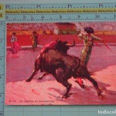 Tauromaquia: POSTAL DE TOROS TAUROMAQUIA. AÑOS 10 30. UN ADORNO DE BANDERILLAS. 1080. Lote 98510367