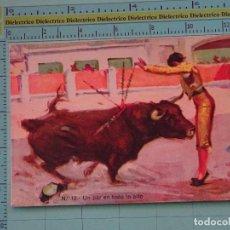 Tauromaquia: POSTAL DE TOROS TAUROMAQUIA. AÑOS 10 30. UN PAR EN TODO LO ALTO. DIBUJO DE RUANO LLOPIS. 1081. Lote 98510395