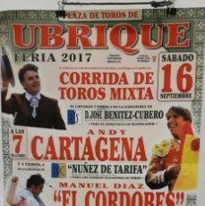 Tauromaquia: CARTEL TOROS UBRIQUE. Lote 99034211