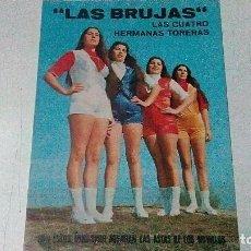 Tauromaquia: TARJETA DE LAS BRUJAS, LAS CUATRO HERMANAS TORERAS, PLAZA DEL PUERTO AÑO 1983. Lote 99182679