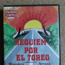 Tauromaquia: VHS. RÉQUIEM POR EL TORERO. FILMOTECA TAURINA GAN. MANOLETE. CÉSAR GIRÓN. YIYO. PAQUIRRI.. Lote 99715603