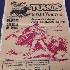Tauromaquia: CARTEL TOROS. BILBAO 1967. Lote 99944271
