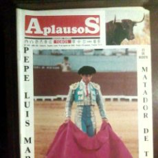 Tauromaquia: REVISTA APLAUSOS N.º 620, 14 DE AGOSTO DE 1989 - PEPE LUIS MARTÍN. Lote 101177799
