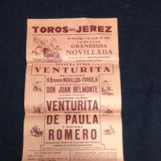 Tauromaquia: CARTEL PLAZA DE TOROS DE JEREZ AÑO 1959. Lote 101316579