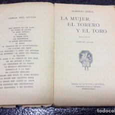 Tauromaquia: LA MUJER, EL TORO Y EL TORERO / ALBERTO INSUA. EDICION 1926. Lote 101476811