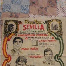 Tauromaquia: ANTIGUO PAÑUELO.CARTEL.PLAZA TOROS SEVILLA.EMILIO MUÑOZ.JOSELITO.FINITO CORDOBA.1994. Lote 101653043