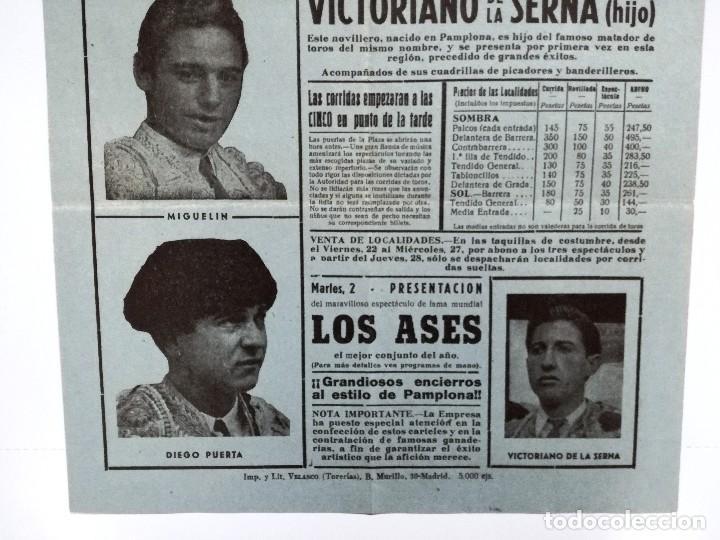 Tauromaquia: CARTEL DE TOROS CALAHORRA AGOSTO 1958.SOLANITO,AVELARDO VERGARA,EL TRIANERO,MIGUELIN,DIEGO PUERTA, - Foto 4 - 103321883
