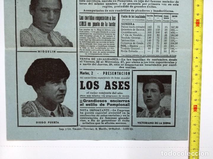 Tauromaquia: CARTEL DE TOROS CALAHORRA AGOSTO 1958.SOLANITO,AVELARDO VERGARA,EL TRIANERO,MIGUELIN,DIEGO PUERTA, - Foto 5 - 103321883
