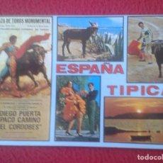 Tauromaquia: POSTAL POST CARD POSTCARD TOROS TOREO TAUROMAQUIA FIESTA BULLFIGHTING, ESPAÑA TÍPICA, MONUMENTAL VER. Lote 103697063