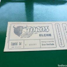 Tauromaquia: ENTRADA DE TOROS DE GRAN NOVILLADA EN LA PLAZA DE TOROS DE ELCHE EN EL AÑO 1976. Lote 103839128