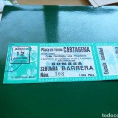 Tauromaquia: ENTRADA PARA LA PLAZA DE TOROS DE CARTAGENA JUNIO DE 1982. Lote 103839612