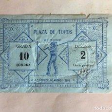 Tauromaquia: ANTIGUA ENTRADA TOROS PLAZA DE MADRID 5ª CORRIDA DE ABONO 1901. Lote 103840395