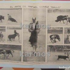 Tauromaquia: 1914 TORERO RAFAEL GOMEZ GALLO. COGIDA GALLO. (2 HOJAS) (1503). Lote 104208739