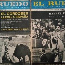 Tauromaquia: 2 ANTIGUOS PERIODICOS EL RUEDO. Lote 105325459