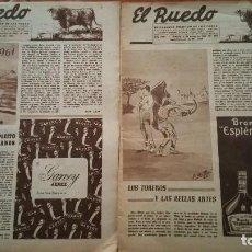 Tauromaquia: 2 ANTIGUOS DE PERIODICOS EL RUEDO 1960. Lote 105326143