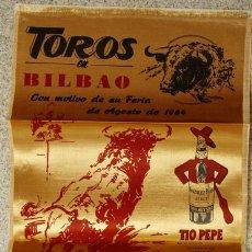Tauromaquia: CARTEL EN SEDA PLAZA DE TOROS BILBAO. FERIA AGOSTO 1964. Lote 105437882