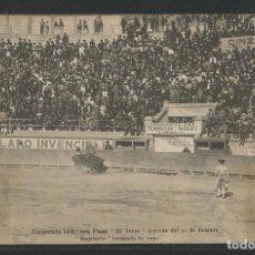Tauromaquia: REGATERÍN TOREANDO DE CAPA - TEMPORADA 1908 / 1909 - PLAZA EL TOREO MÉXICO - P24093. Lote 106191003