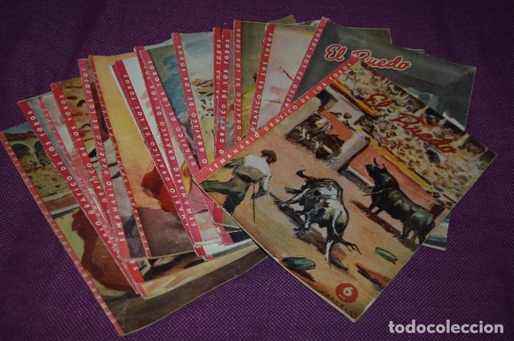 AÑOS 50 - 17 REVISTAS TAURINAS - 17 EJEMPLARES DE LA REVISTA EL RUEDO - HAZME UNA OFERTA - VINTAGE (Coleccionismo - Tauromaquia)