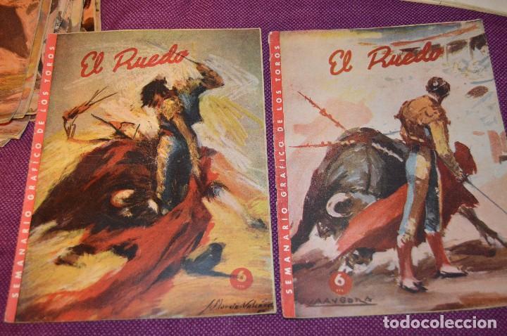 Tauromaquia: Años 50 - 17 REVISTAS TAURINAS - 17 EJEMPLARES DE LA REVISTA EL RUEDO - HAZME UNA OFERTA - VINTAGE - Foto 4 - 106959791