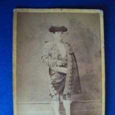 Tauromaquia: (FOT-180001)FOTOGRAFIA ALBUMINA DE ANTONIO CARMONA ( EL GORDITO ) FOTO E.BEAUCHY - SEVILLA. Lote 108429407