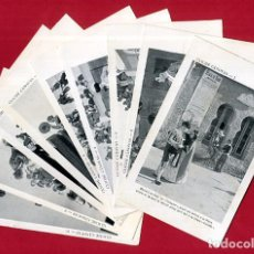 Tauromaquia: LOTE COLECCION POSTALES CLICHE CANOVAS , TEMA TOROS , REVERSO SIN PARTIR , A1. Lote 108453439