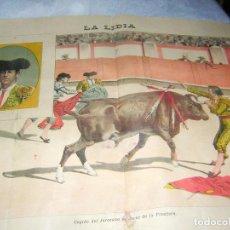 Tauromaquia: LA LIDIA REVISTA CON LITOGRAFÍA, Nº 25 AÑO XIV DE 1895 ORIGINAL. Lote 109865827