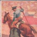 Tauromaquia: POSTAL DIBUJO REJONEO A CABALLO - TUSEN - COLECCION LANCES DE UNA CORRIDA . Lote 110381951