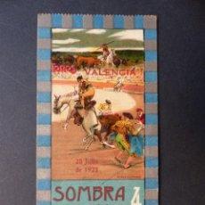 Tauromaquia: VALENCIA - ENTRADA TOROS FERIA JULIO - AÑO 1923. Lote 111082679