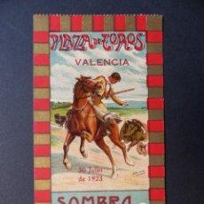 Tauromaquia: VALENCIA - ENTRADA TOROS FERIA JULIO - AÑO 1923. Lote 111082691