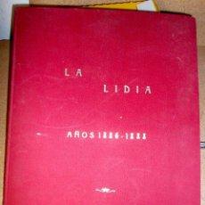 Tauromaquia: LOTE DE LAMINAS DE LA LIDIA DE 1886-1888 ENCUADERNADAS Y RESTAURADAS X SR. GALVEZ EN CADIZ. Lote 111236755