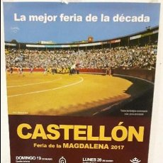 Tauromaquia: CARTEL TOROS CASTELLON MAGDALENA 2017. Lote 111351055