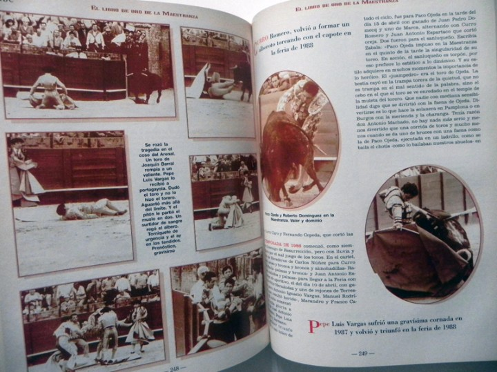 Tauromaquia: EL LIBRO DE ORO LA MAESTRANZA - TAUROMAQUIA SEVILLA PLAZA TOROS TOREROS -MUCHAS FOTOS HISTORIA TOREO - Foto 4 - 111688019