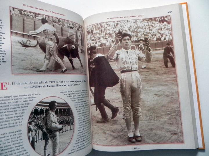 Tauromaquia: EL LIBRO DE ORO LA MAESTRANZA - TAUROMAQUIA SEVILLA PLAZA TOROS TOREROS -MUCHAS FOTOS HISTORIA TOREO - Foto 5 - 111688019