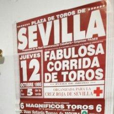 Tauromaquia: CARTEL TOROS MURAL SEVILLA CURRO ROMERO EMILIO MUÑOZ Y JOSELITO 1995. Lote 111848607