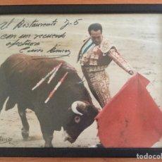 Tauromaquia: FOTO DE CURRO ROMERO FIRMADA Y DEDICADA. 1992 FOTÓGRAFO AVILES. Lote 121988974