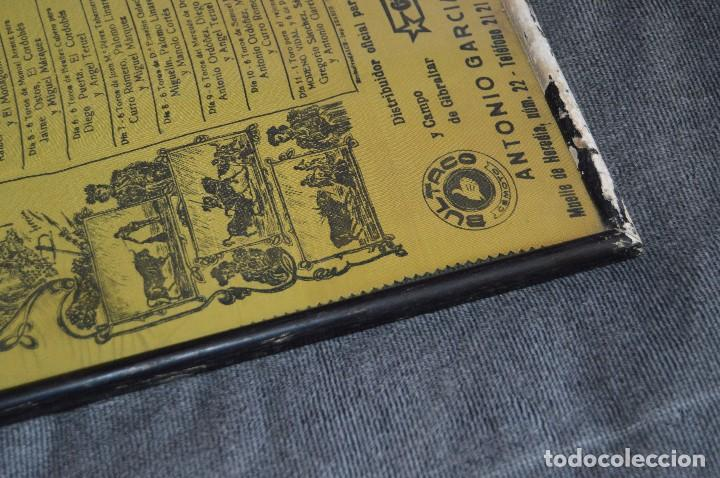 Tauromaquia: VINTAGE Y ANTIGUO - ANTIGUO CARTEL TAURINO ENMARCADO - FERIA DE MÁLAGA DE 1968 - EN SEDA - HAZ OFERT - Foto 11 - 112335655
