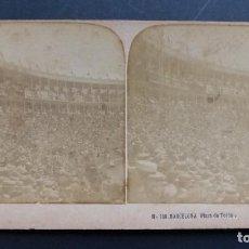 Tauromaquia: BARCELONA - PLAZA DE TOROS - FOTOGRAFIA VISTA ESTEREOSCOPICA DE PRINCIPIO DE SIGLO XX. Lote 113549015