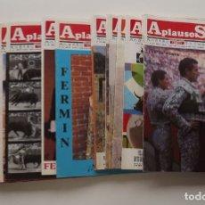 Tauromaquia: 26 REVISTAS APLAUSOS AÑOS 1987-1992. VER IMÁGENES DE TODAS LAS PORTADAS. Lote 54029608