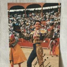 Tauromaquia: FOTO GRANDE DE EL SORO DEDICADA Y FIRMADA. Lote 114184635