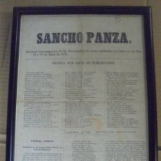 Tauromaquia: REVISTA TAUROMAQUICA. SANCHO PANZA. JUNIO 1863. CADIZ. 35 X 25CM. Lote 114253675