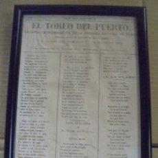 Tauromaquia: REVISTA TAUROMAQUICA DE LA PRIMERA CORRIDA DE TOROS DEL PUERTO SANTA MARIA. MAYO 1885. 20 X 30CM. Lote 114254131