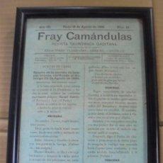 Tauromaquia: CADIZ. 1886. FRAY CAMANDULAS. REVISTA TAUROMACA GADITANA. 23 X 17CM. Lote 114254927