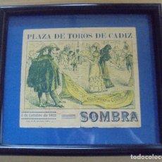 Tauromaquia: PLAZA DE TOROS DE CADIZ. 1912. CENTENARIO CONSTITUCION. ASOCIACION GADITANA DE LA CARIDAD. ENTRADA. Lote 114254987