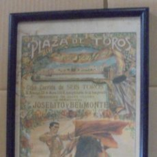 Tauromaquia: PLAZA DE TOROS. PUERTO SANTA MARIA. 1916. JOSELITO Y BELMONTE. GANADERIA SANTA COLOMA. 23 X 50CM. Lote 114256287