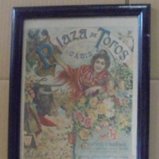 Tauromaquia: PLAZA DE TOROS. CADIZ. 1902. CABALLEROS HOSPITALARIOS. QUINITO Y CHICUELO. TOROS DE PEÑALVER HRNOS.. Lote 114257195