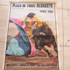 Tauromaquia: CARTEL DE TOROS DE ALBACETE. FERIA 1986. ESPARTACO, JOSELITO, DÁMASO GONZÁLEZ. Lote 114976427