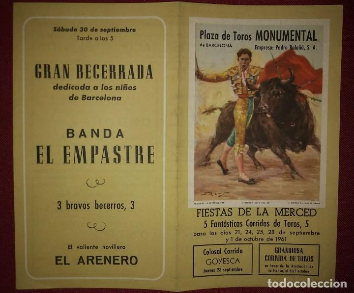 961 Díptico Corridas de toros. Fiestas de la merced